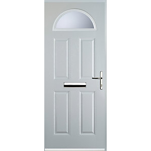 Euramax 4 Panel 1 Arch White Left Hand Composite Door