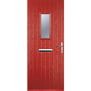Euramax 1 Square Red Left Hand Composite Door