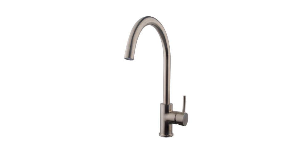 Wickes Fiora Monobloc Kitchen Sink Mixer Tap - Brushed Nickel