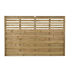 Forest Garden Pressure Treated Kyoto Fence Panel - 6 x 4ft Pack of 4