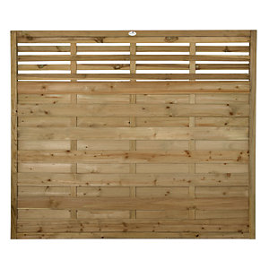 Forest Garden Pressure Treated Kyoto Fence Panel - 6 x 5ft Pack of 3