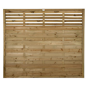 Forest Garden Pressure Treated Kyoto Fence Panel - 6 x 5ft Pack of 4