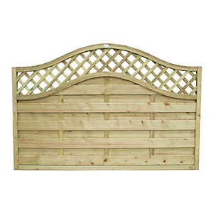 Forest Garden Pressure Treated Bristol Fence Panel - 6 x 4ft Pack of 4