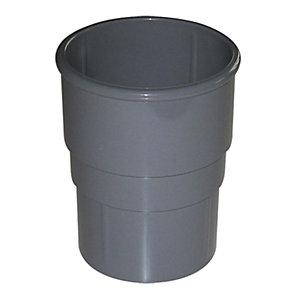 Image of FloPlast 50mm MiniFlo Downpipe Pipe Socket - Grey