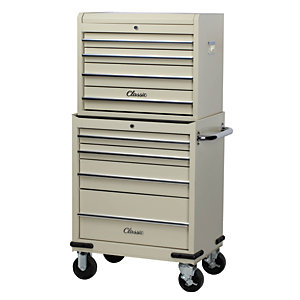 Hilka Classic 8 Drawer Mobile Combination Unit - Cream
