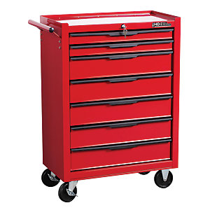 Hilka Heavy Duty 7 Drawer Tool Trolley - Red