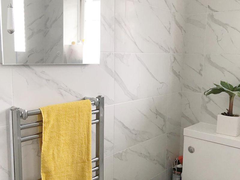Calacatta White Marble Glazed Pocelain Tile