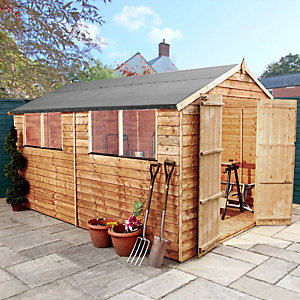 Mercia 12 x 8 ft Double Door Timber Overlap Apex Shed