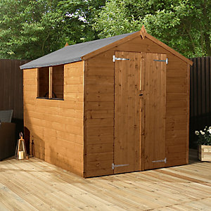 Mercia 8 x 6 ft Timber Shiplap Apex Shed