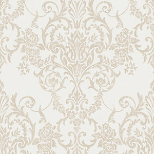 Superfresco Easy Victorian Damask Gold Decorative Wallpaper - 10m