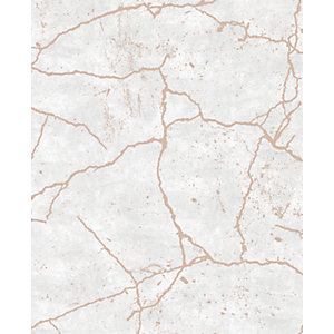 Superfresco Easy Kintsugi Rose Gold Decorative Wallpaper - 10m