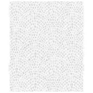 Contour Trajan Silver Decorative Wallpaper - 10m