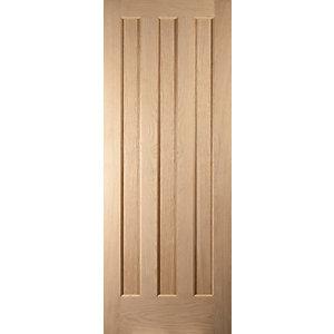 Jeld-Wen Aston Oak 3 Panel Internal Door - 1981 x 838mm