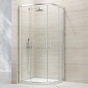 Nexa By Merlyn 8mm Chrome Quadrant Double Sliding Door Shower Enclosure - 900 x 900mm