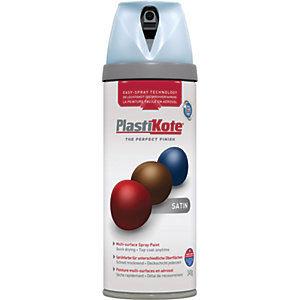 Plastikote Multi-surface Spray Paint - Satin Baby Blue 400ml