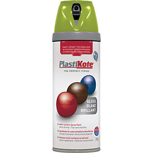 Plastikote Multi-surface Spray Paint - Gloss April Green 400ml