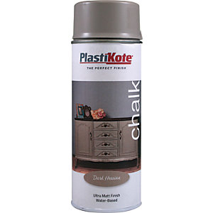 Plastikote Chalk Finish Spray Paint - Dark Hessian 400ml