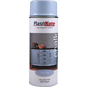 Plastikote Chalk Finish Spray Paint - Frost Blue 400ml