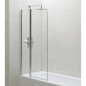 Wickes Chrome Fixed Bath Screen - 1400 x 900mm