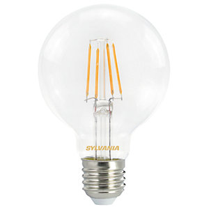 Sylvania LED Non Dimmable Filament Globe E27 Light Bulb - 4.5W