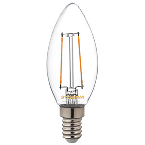 Sylvania LED Non Dimmable Filament E14 Candle Light Bulb - 2.5W
