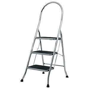 Image of Abru 3 Step Stepstool - Chrome