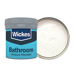 Wickes Frosted White - No.135 Bathroom Soft Sheen Emulsion Paint Tester Pot -50ml