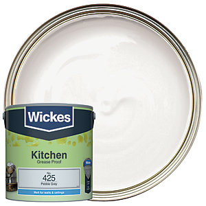 Wickes Pebble Grey - No. 425 Kitchen Matt Emulsion Paint - 2.5L