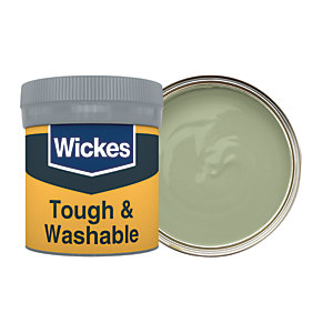 Wickes Olive Green - No. 830 Tough & Washable Matt Emulsion Paint Tester Pot - 50ml