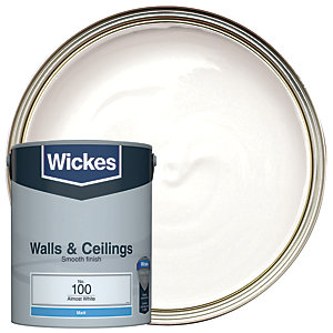Wickes Almost White - No. 100 Vinyl Matt Emulsion Paint - 5L