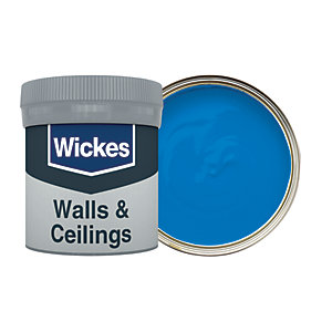 Wickes Brilliant Blue - No. 955 Vinyl Matt Emulsion Paint Tester Pot - 50ml