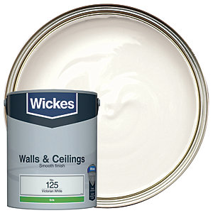 Wickes Victorian White - No. 125 Vinyl Silk Emulsion Paint - 5L