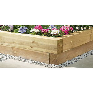 Image of Wickes 1.2m Decorative Timber Garden Sleeper