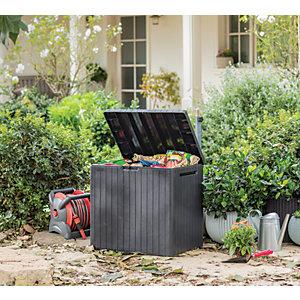 Keter City Outdoor Plastic Garden Storage Box - Graphite