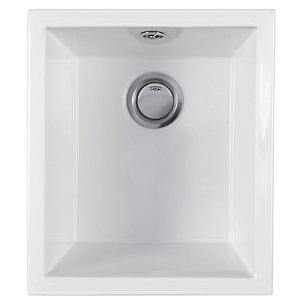 Wickes Square 1 Bowl Ceramic Kitchen Sink - White