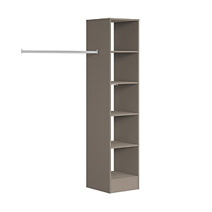 Spacepro Wardrobe Storage Kit Tower Unit Stone Grey - 450mm