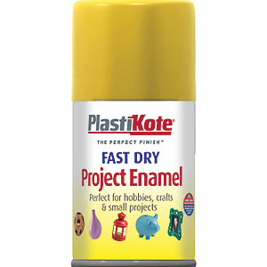 Plastikote Fast Dry Enamel Aerosol Spray - Buttercup Yellow 100ml