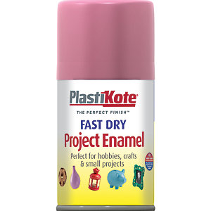 Plastikote Fast Dry Enamel Aerosol Spray - Hot Pink 100ml