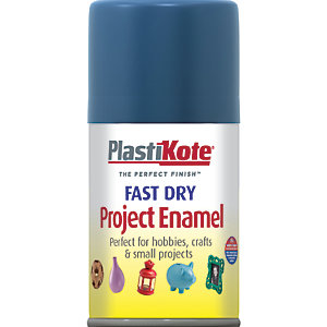 Plastikote Fast Dry Enamel Aerosol Spray - Harbour Blue 100ml