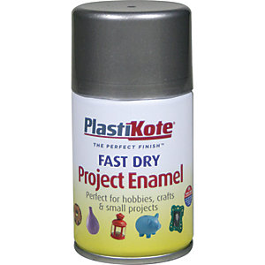 Plastikote Fast Dry Enamel Aerosol Spray - Pewter 100ml