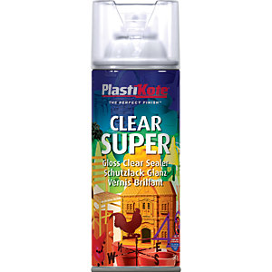 Plastikote Super Spray Paint - Gloss Clear Acrylic 400ml