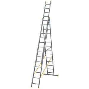 Werner ExtensionPLUS X4 10.22m Aluminium Combination Ladder