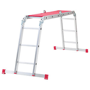 Werner 12 in 1 Aluminium Combination Ladder with Platform