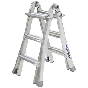 Werner Telescopic 4 x 3 Aluminium Combination Ladder