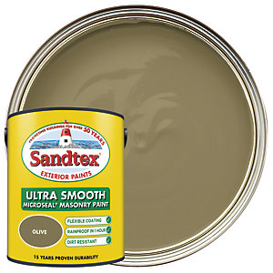 Sandtex Ultra Smooth Masonry Paint - Olive 5L