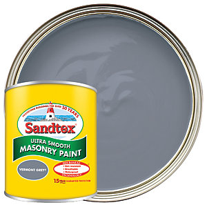 Sandtex Ultra Smooth Masonry Paint - Vermont Grey 150ml