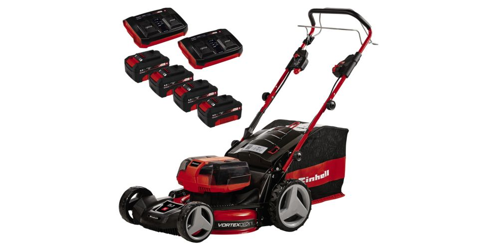 Einhell GE CM Self Propelled Cordless Lawn Mower Kit