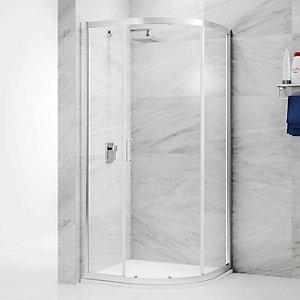 Nexa By Merlyn 6mm Chrome Offset Quadrant Single Sliding Door Shower Enclosure - 1200 x 800mm