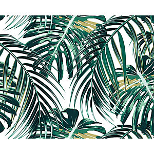 ohpopsi Tropical Palm Leaves Wall Mural