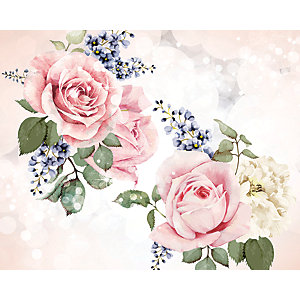 ohpopsi Roses And Sparkles Wall Mural